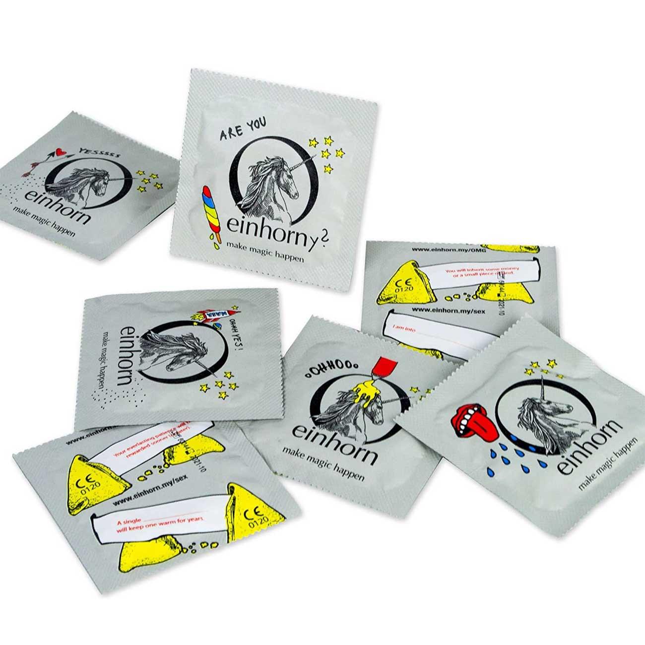 Einhorn Kondome witzige Verpackung