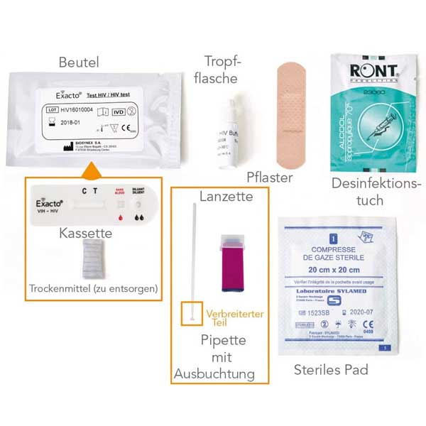 HIV Test Kit Heimtest