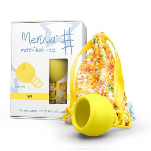 Merula Cup gelbe Menstruationstasse